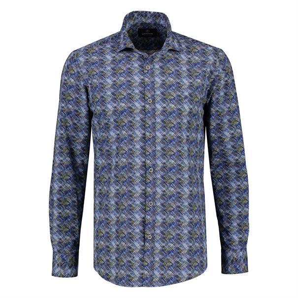 Lerros overhemd Regular Fit 2081354T in het Donker Blauw