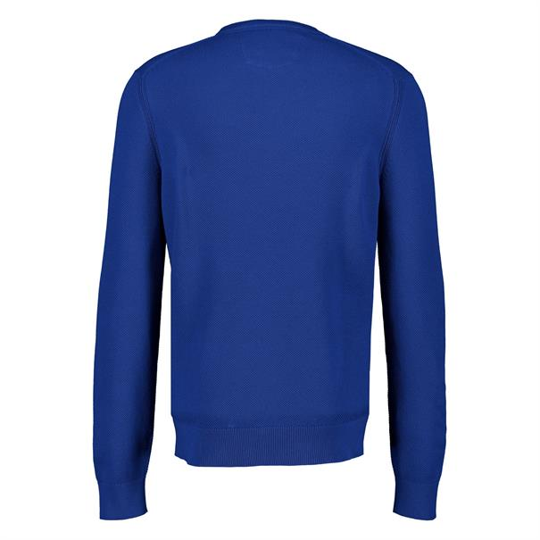 Lerros ronde hals trui 2085001 in het Blauw