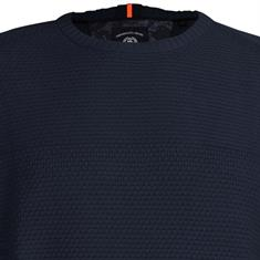 Lerros ronde hals trui Regular Fit 29n5059 in het Donker Blauw