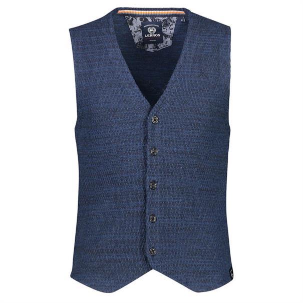 Lerros vesten Regular Fit 2985616 in het Blauw