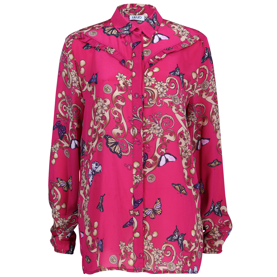 Liu Jo blouse w19-271 in het Fuxia