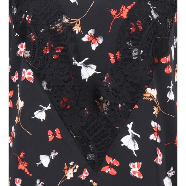 Liu Jo blouse w68-061 in het Zwart / Rood