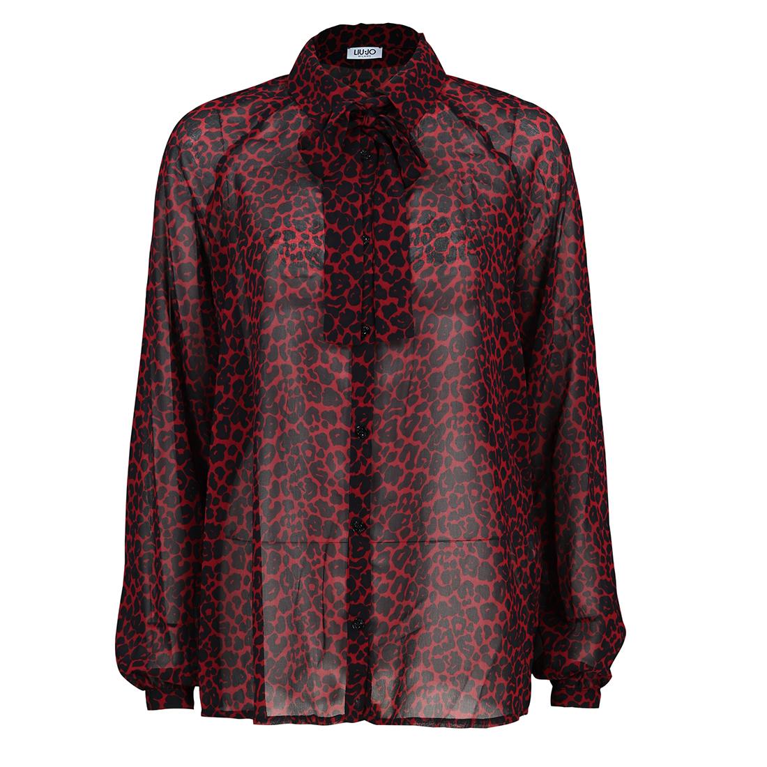 Liu Jo blouse w69-018 in het Zwart - Rood