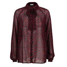 Liu Jo blouse w69-018 in het Zwart / Rood