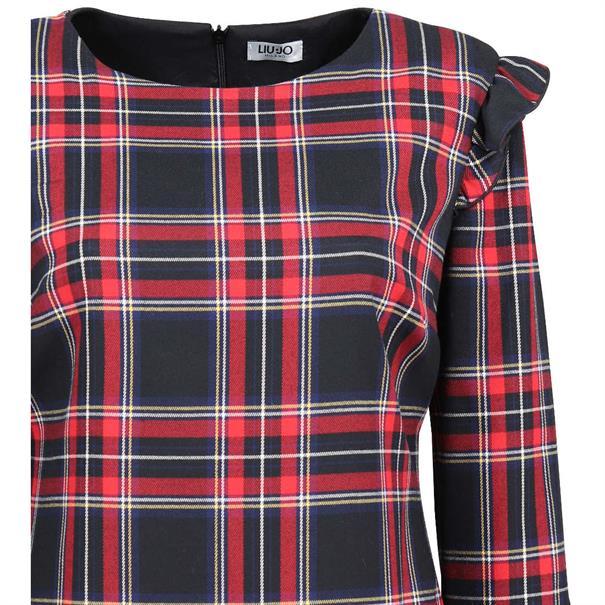 Liu Jo jurk f68-054 in het Zwart / Rood
