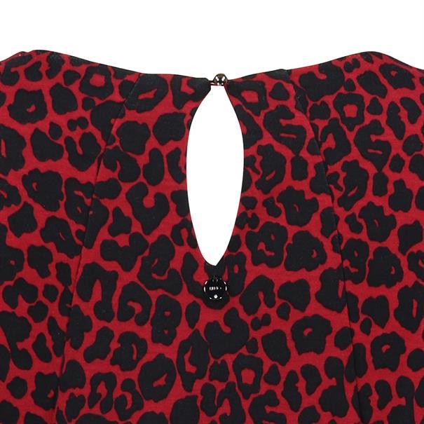Liu Jo jurk w69-226 in het Zwart / Rood