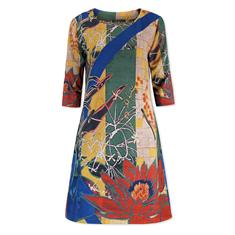 Lizzy & Coco jurk caat-print in het Multicolor