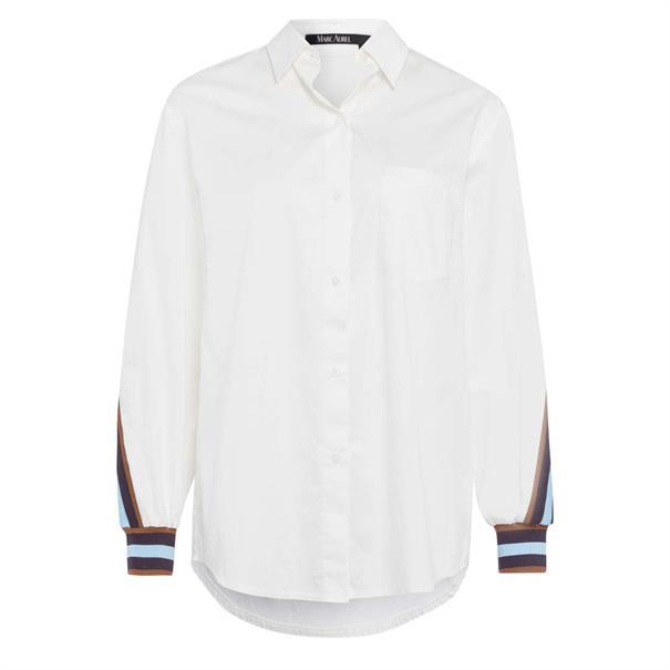 Marc Aurel blouse 62191000-92642 in het Ecru