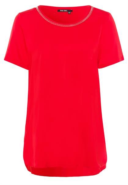 Marc Aurel blouse 6221-1003-92638 in het Rood