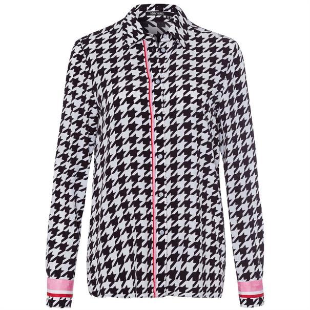 Marc Aurel blouse 62271000-92625 in het Zwart / Wit