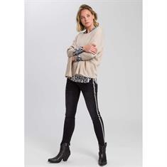 Marc Aurel blouse 62871000-92718 in het Zwart / Beige
