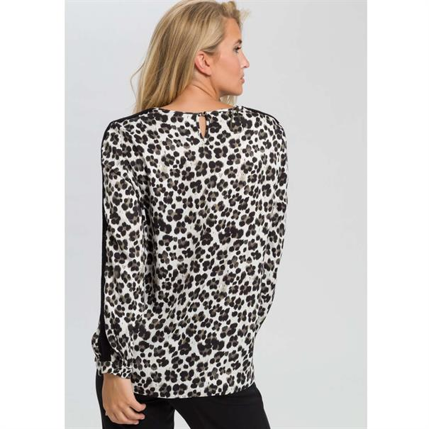 Marc Aurel blouse 63131000-92759 in het Kaky