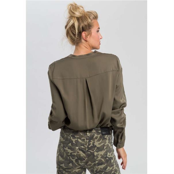 Marc Aurel blouse 63161000-92638 in het Kaky