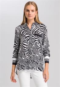 Marc Aurel blouse 6328-1003-24401 in het Zwart / Wit