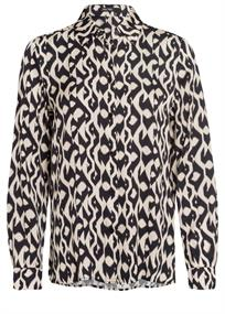 Marc Aurel blouse 6330-1005-92956 in het Zwart / Wit