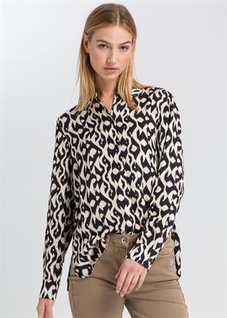 Marc Aurel blouse 6330-1005-92956 in het Zwart / Wit