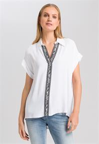 Marc Aurel blouse 6331-1000-92770 in het Wit/Zwart