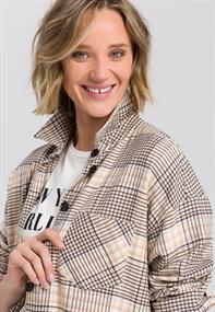 Marc Aurel blouse 6393-2001-24449 in het Beige