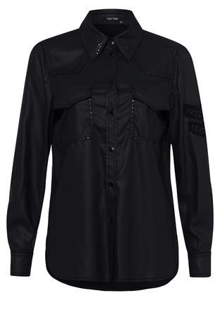 Marc Aurel blouse 6422-2302-93010 in het Zwart