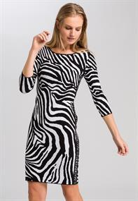 Marc Aurel jurk 6655-8000-81906 in het Zwart / Wit
