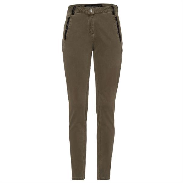Marc Aurel pantalons 12362307-92555 in het Kaky