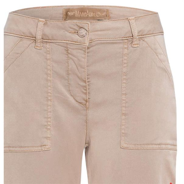Marc Aurel pantalons 1412-230092439 in het Beige