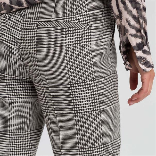 Marc Aurel pantalons 14652000-24351 in het Zwart / Wit