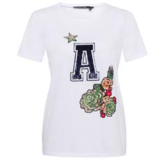 Marc Aurel t-shirt 76647000-72836 in het Wit/Groen