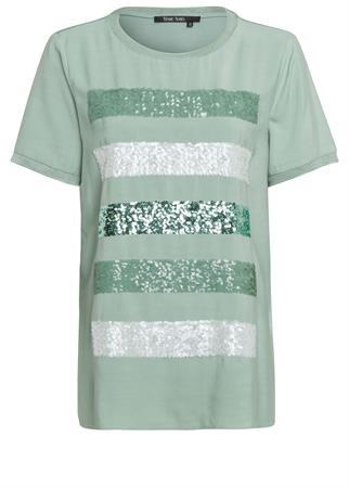 Marc Aurel t-shirts 7099-7000-73288 in het Mint Groen