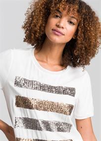 Marc Aurel t-shirts 7099-7000-73288 in het Roest