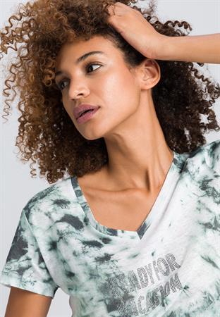 Marc Aurel t-shirts 7129-7000-73302 in het Mint Groen