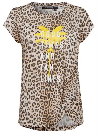 Marc Aurel t-shirts 7145-7000-73323 in het Beige