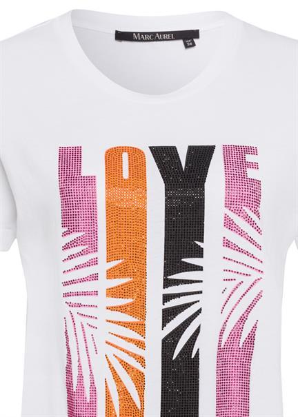 Marc Aurel t-shirts 7155-7000-73341 in het Wit/Rood