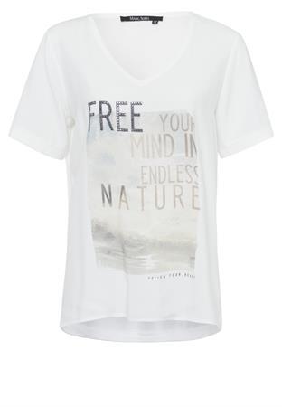 Marc Aurel t-shirts 7204-7000-73386 in het Roest