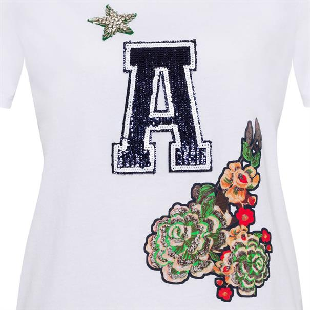 Marc Aurel t-shirts 76647000-72836 in het Wit/Groen