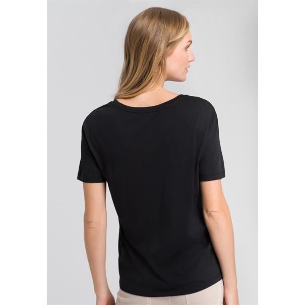Marc Aurel t-shirts 78747000-73061 in het Zwart / Beige