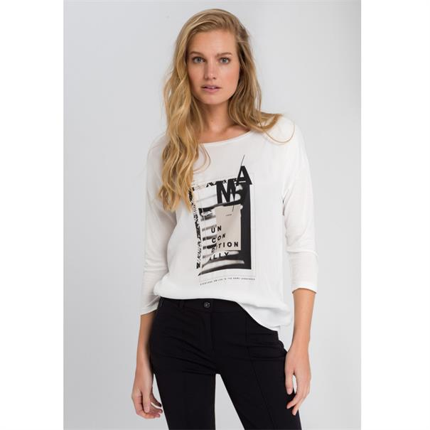 Marc Aurel t-shirts 78787000-73065 in het Offwhite
