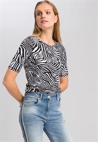 Marc Aurel t-shirts 7935-7000-73132 in het Zwart / Wit