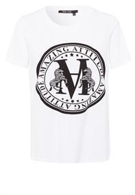 Marc Aurel t-shirts 7938-7000-72953 in het Wit/Zwart