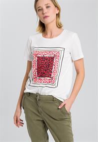 Marc Aurel t-shirts 7959-7000-73128 in het Wit/Rood