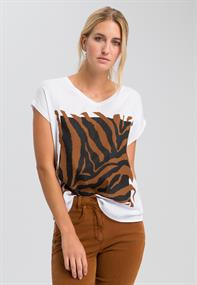 Marc Aurel t-shirts 7989-7000-73175 in het Roest