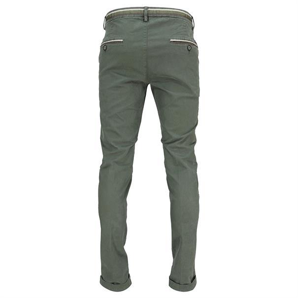 Mason's broeken Tapered fit cbe050-torinow-n3 in het Olijf groen