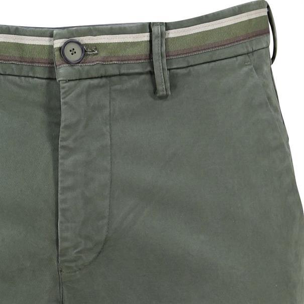 Mason's chino Tapered fit cbe050-torinow-n3 in het Olijf groen