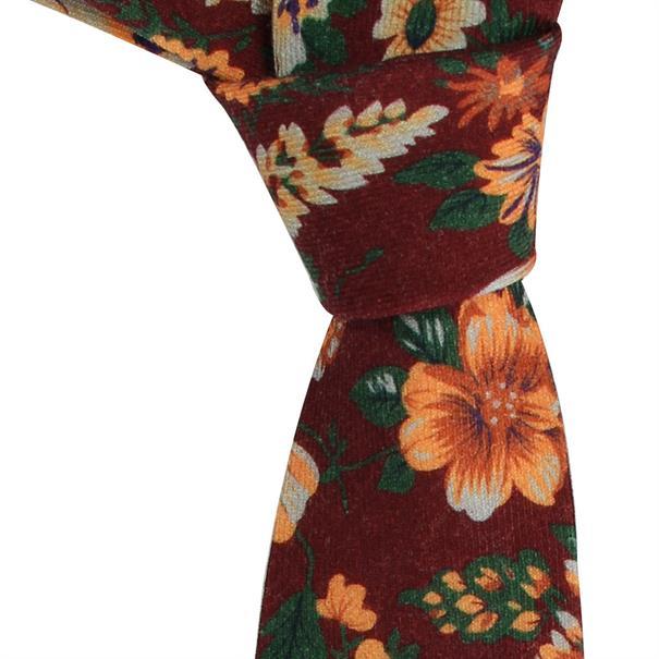 Michaelis stropdas PMNA3D058B in het Bordeaux