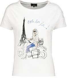 Monari t-shirts 405344 in het Wit