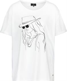 Monari t-shirts 406164 in het Wit