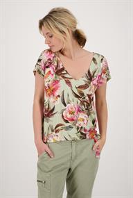 Monari t-shirts 406248 in het Olijf groen