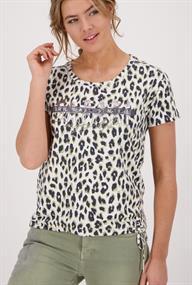 Monari t-shirts 406348 in het Olijf groen