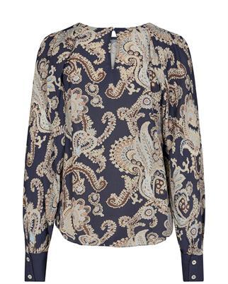 Mos Mosh blouse 140094 in het Nacht Blauw