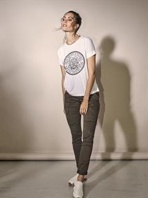 Mos Mosh t-shirts 132000 in het Wit/Beige